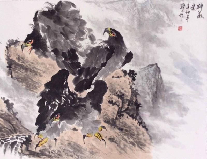 郭晓恒 花鸟画 《神威》