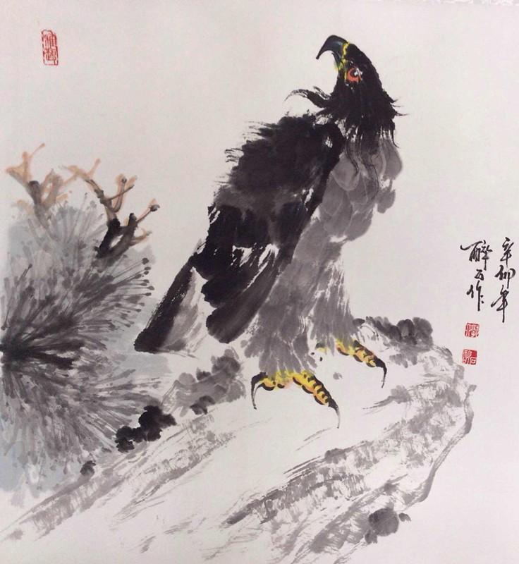 郭晓恒 花鸟画《鹰》