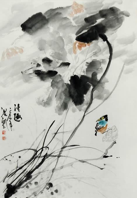 王洪凯 花鸟画《清趣》