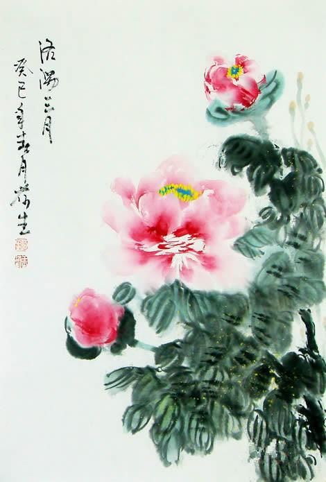 王洪凯 花鸟画《洛阳三月》