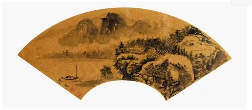张清芬 山水画《一望秋山净》