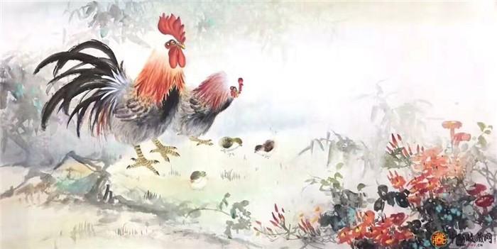 王朋花鸟画国画作品《大吉图》