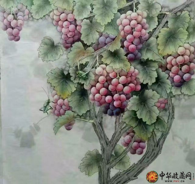 王朋四尺斗方国画作品《硕果累累》