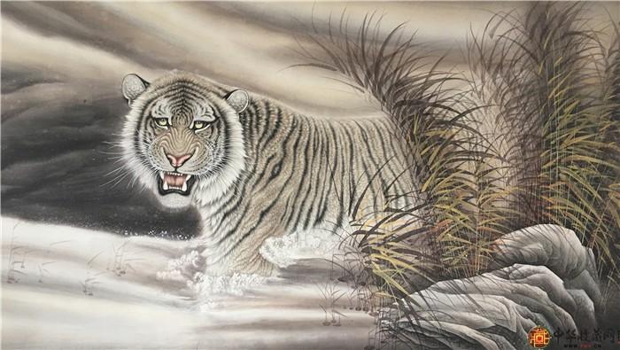 王朋八尺国画作品《王者之风》