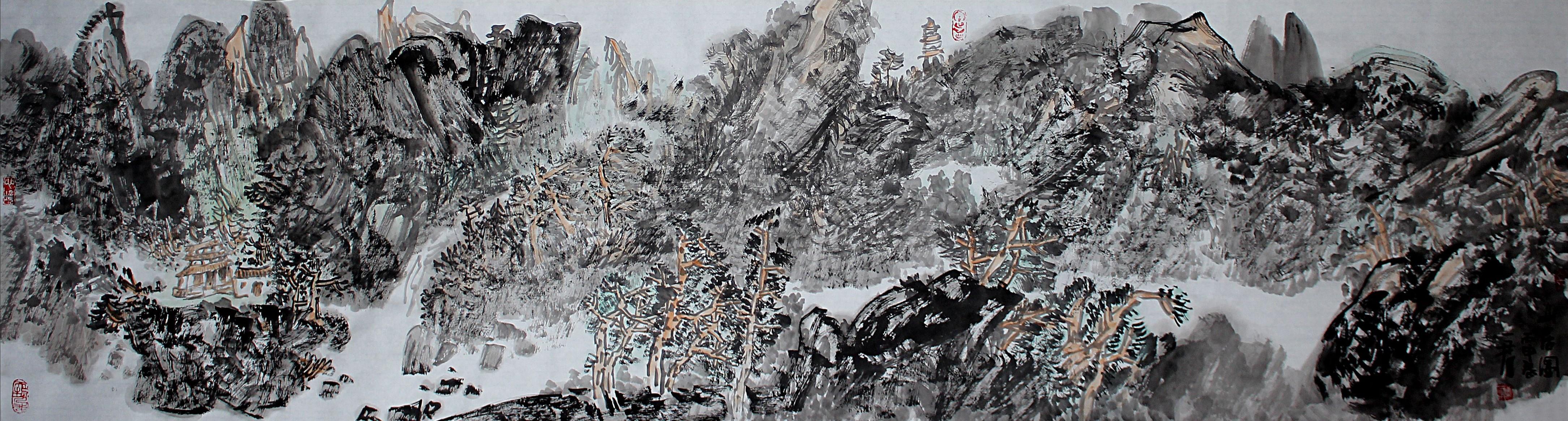 刘一军山水画作品《山居图》