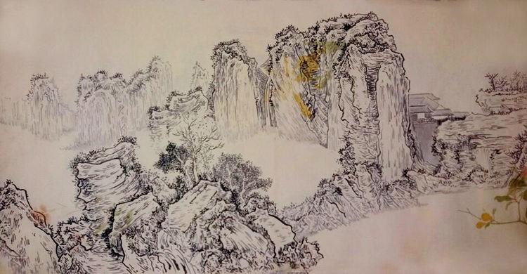 王凯 山水画 《宋意山水》