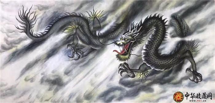 王朋四尺全开国画作品《龙》