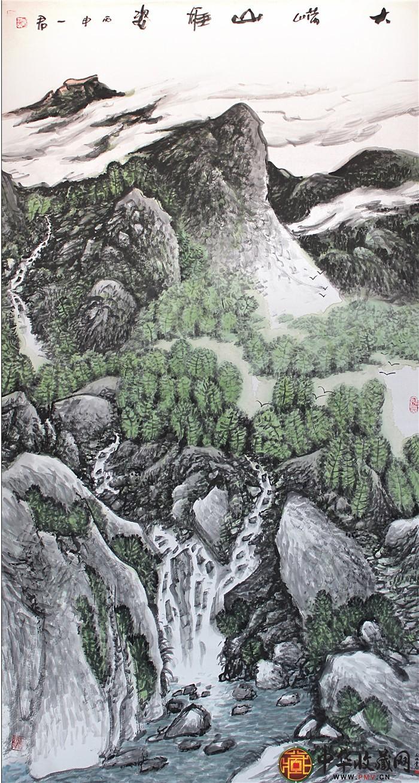 刘一军六尺国画作品《大崂山》