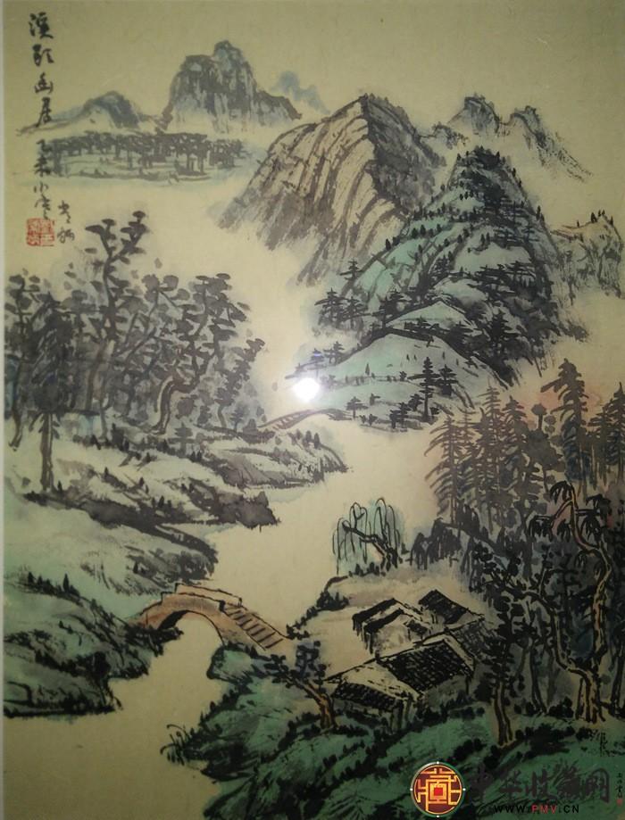 刘常炳小尺寸山水国画作品《溪头幽居图》