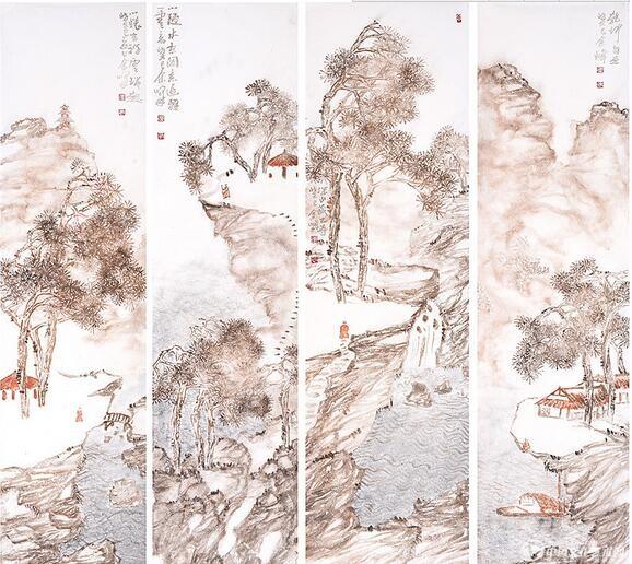余峰国画作品