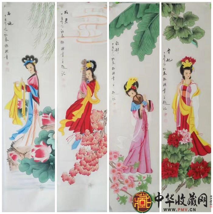 王朋人物画作品《四大美女》