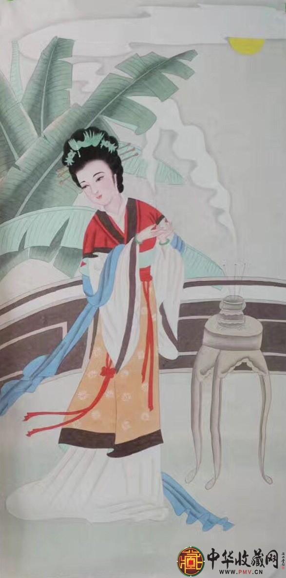 王朋四尺竖幅人物画作品