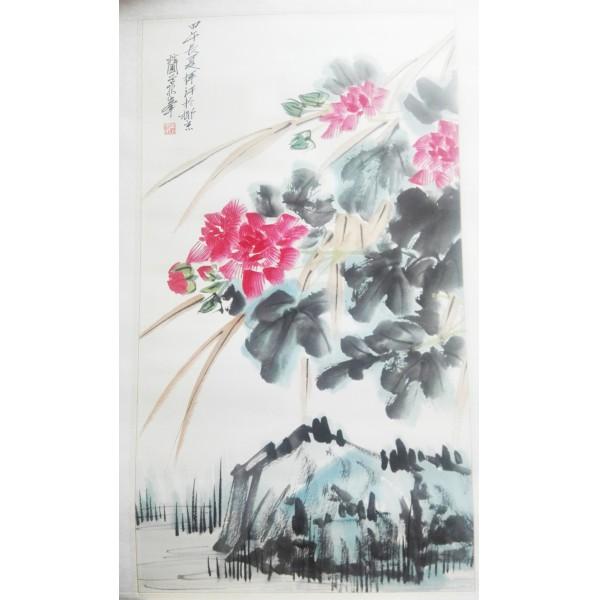 【当代名家】一幅已故当代名家黄独峰的花鸟画托片