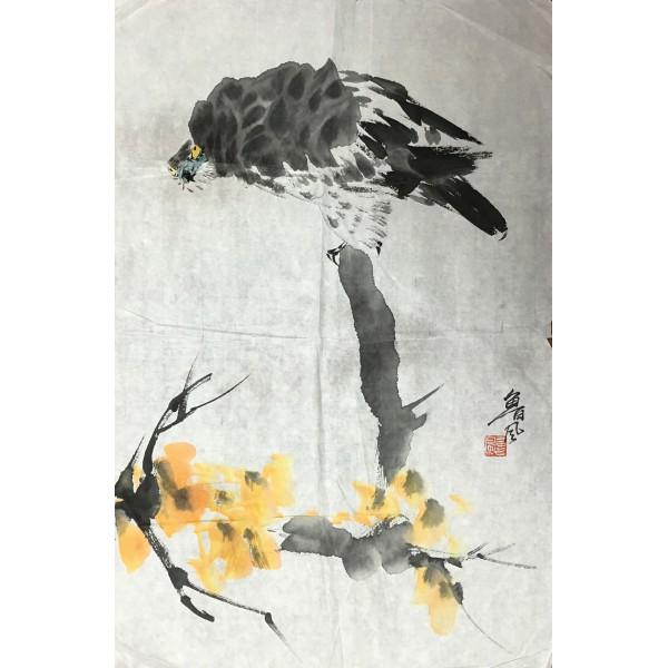 鲁风  花鸟  46x68cm