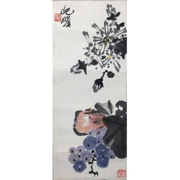 朱屹瞻  花卉 19.5X47CM