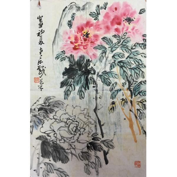 诸乐三  花卉  69x46cm