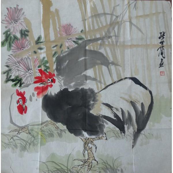 张世简 公鸡68*68
