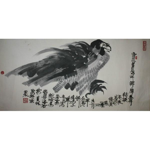韩美林雄鹰图
