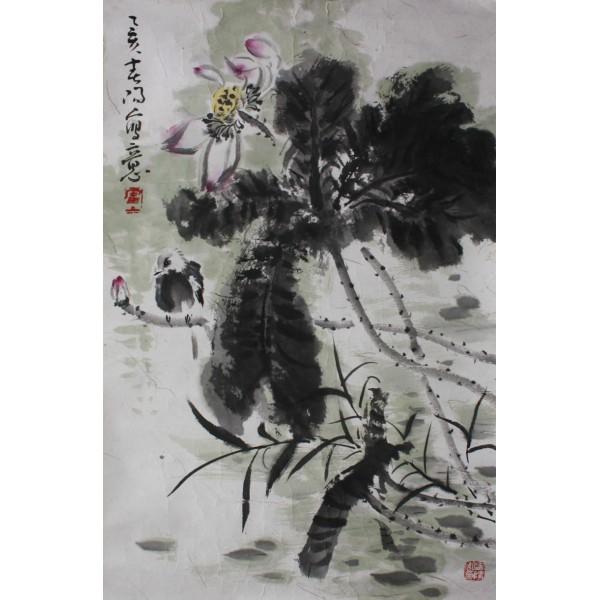 霍春阳 花鸟46x68cm