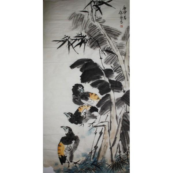 康宁 花鸟 68x136cm