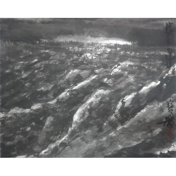 李宝林高山村寨图179x97cm