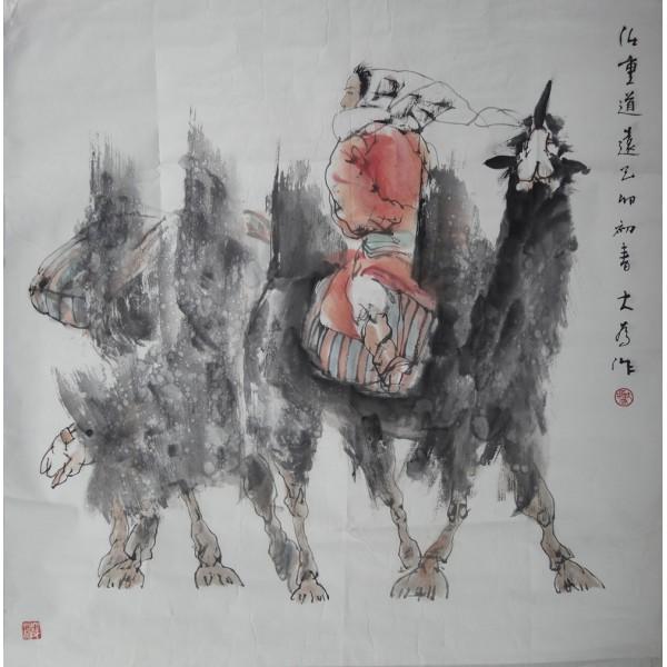 刘大为人物 68X68cm