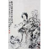 刘国辉  人物立轴  68×46cm
